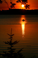 Kayaker -Ice Cracking -Sunset